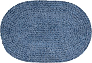 product image for Colonial Mills Barefoot Chenilled Bath Rug, 22 x 34, Blue