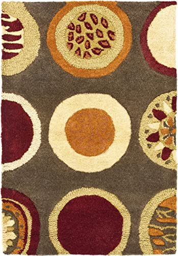 Safavieh Soho Collection SOH835A Handmade Brown and Multi Premium Wool Area Rug 2 x 3