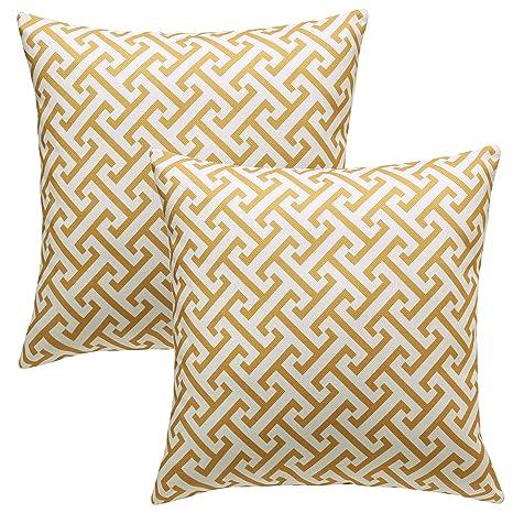 MRNIU 2 Piezas fundas cojines sofa 45 x 45 cm Amarillo cojines decoracion almohadas de Decoración para el Hogar Dormitorio Tapizado Fundas Cojines 18 ...