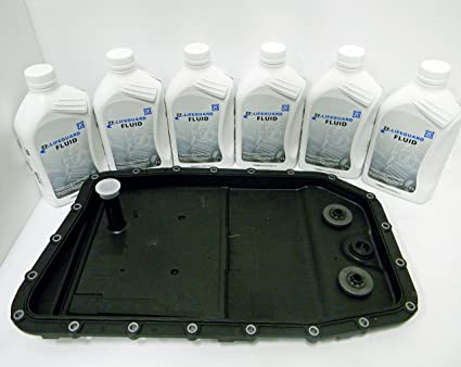 BMW ZF Automatic Transmission Oil Pan Filter Kit # 0501216243 and 6 Liters  of ZF Transmission Fluid (Lifeguard 6)