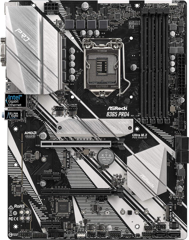 ASROCK MB B365 PRO4 LGA1151/ Intel B365/ DDR4/ Quad CrossFireX/ SATA3&USB3.1/ M.2/ A&GbE/ATX Motherboard
