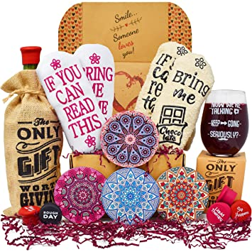 Gift Baskets For Women Best Birthday Gifts Her 2 Pairs Of Funny Socks