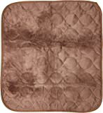 """RMS CP-600BW Absorbent Washable Reusable Incontinence Chair Seat Protector Pad, Underpad, 3-Layer Innovative Design, 350 Washes Guarantee, 21"""" Width, 22"""" Length, Brown"""