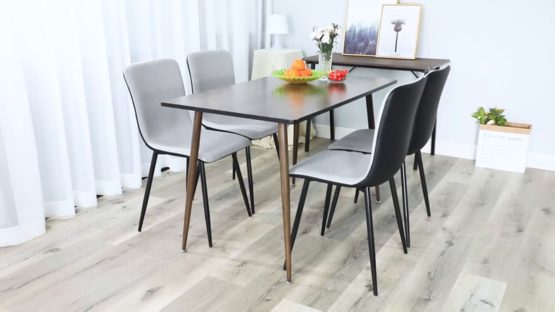 Coavas Dining Chairs Set of 4, Kitchen Chairs with with Fabric Cushion Seat Back, Black Washable PU Back and Metal Legs, Modern Mid Century Living Room Side Chairs - Best Christmas Gifts for Family and Friends. Epic Deals for Black Friday and Cyber Monday! WASHABLE PU FAUX LEATHER🍅🍅🍅---The back of the ergonomic seat shells is made of washable PU faux leather, dyed in stunning and elegant matte black. PU is waterproof and washable. Set of 4 dining room chairs -COMFORTABLE & BREATHABLE - Wear proof thicken padding upholstered chair seat and back, Each bottom leg is equipped with an anti-scratches and anti-noise rubber pad to protect your floor. Set of 4 dining room chairs - STURDINESS & DURABILITY - 4 metal tube with wooden transfer legs, or paint it in a color you prefer. Sturdy X-shaped support to the seat, strong bearing strength, Maximum weight capacity: 250 lbs. - kitchen-dining-room-furniture, kitchen-dining-room, kitchen-dining-room-chairs - A1qE%2B0ElmsL -