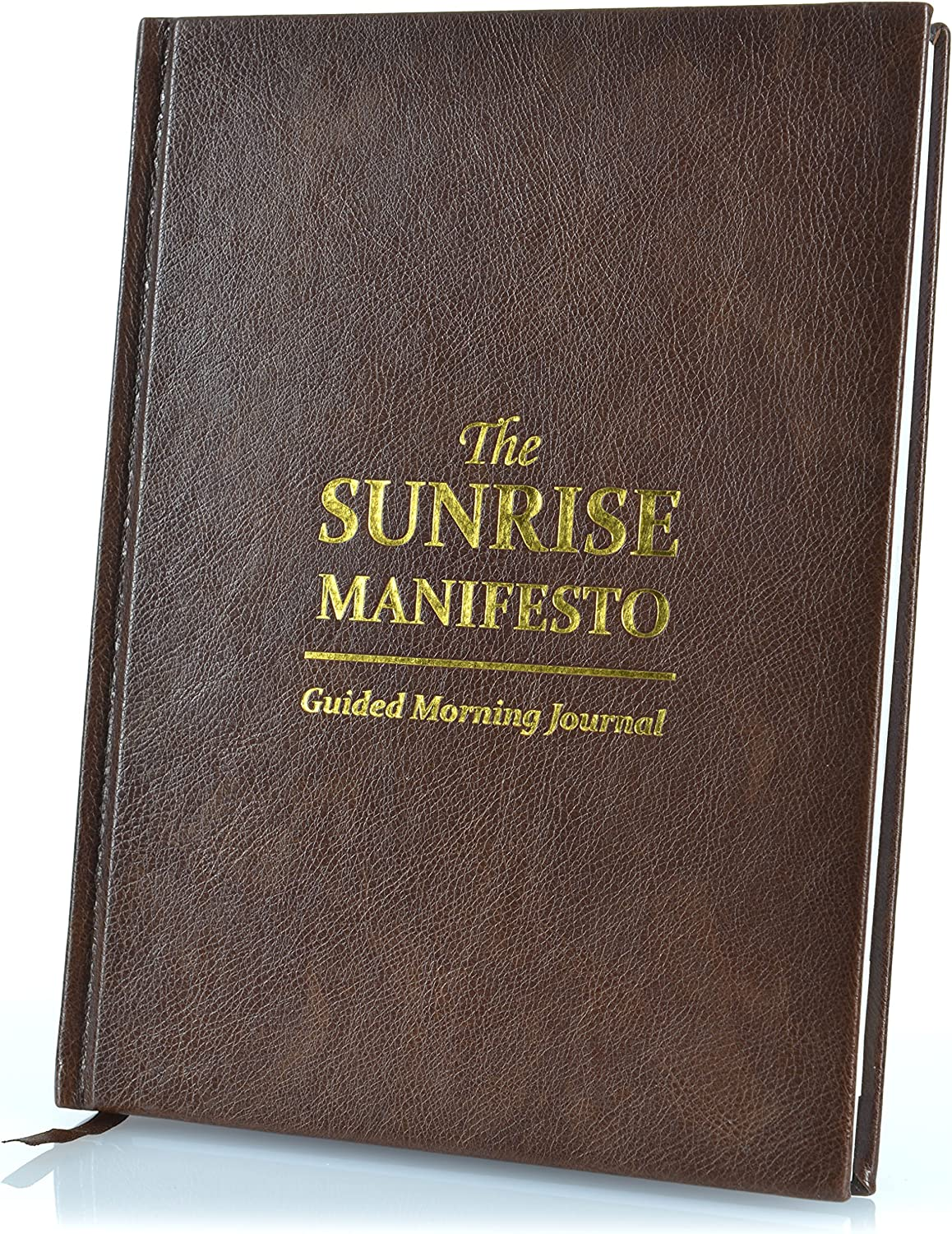 SaltWrap A5 The Sunrise Manifesto Guided Morning Journal (Brown)