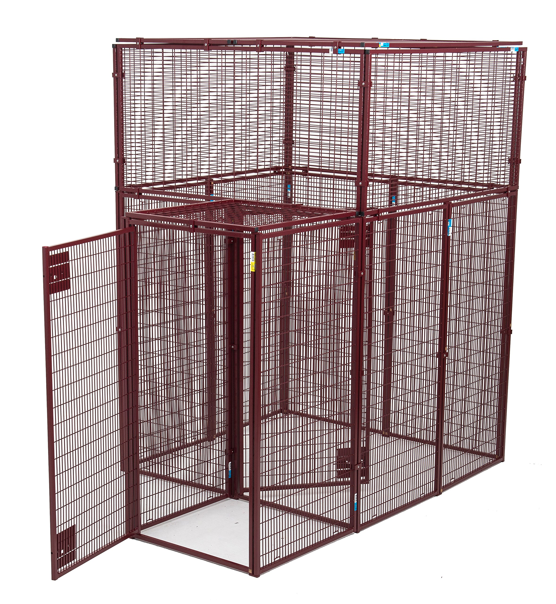 Animal House Ultra Heavy Duty Double Doored Protective Kennel (7.5' Hx5'Lx5'W) 381 lbs