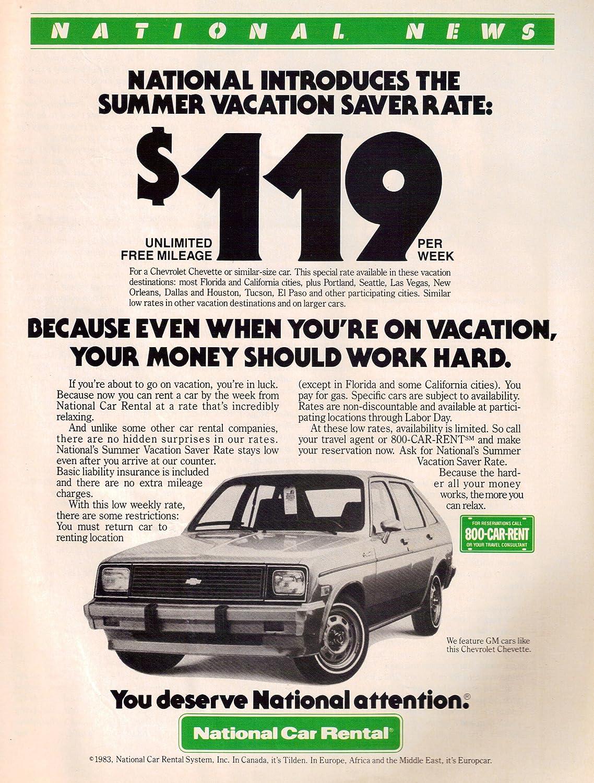 Amazon Com National Car Rental Chevrolet Chevy Chevette Vintage