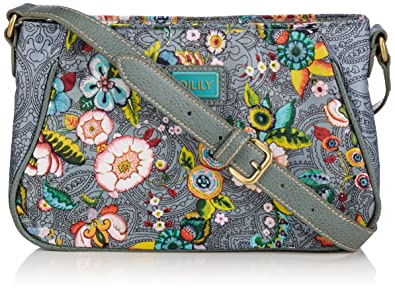 Oilily Luxurious Womens French Flowers XS Flat Shoulder Bag Grey ... 9100d1052f6f4