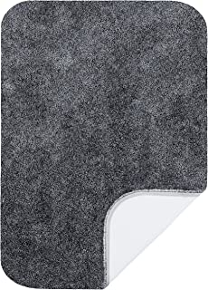 """product image for Maples Rugs Bathroom Rugs-Colorsoft 20"""" x 34"""" Non Slip Washable Bath Mat [Made in USA} Soft & Quick Dry for Vanity and Shower, Grey Flannel"""