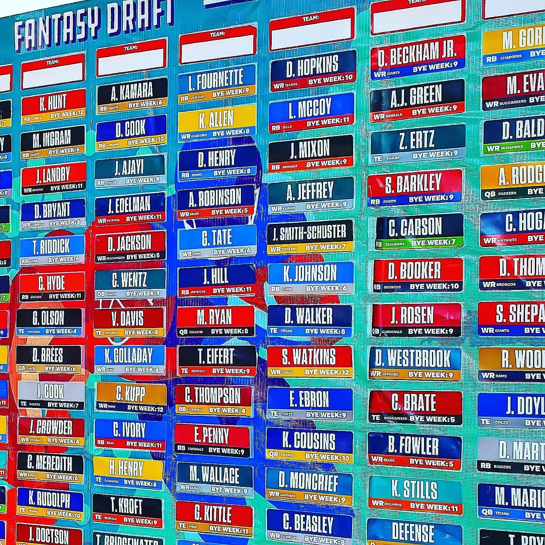 Amazon.com : 2018 Fantasy Football Draft Board Kit With Over 400 ...