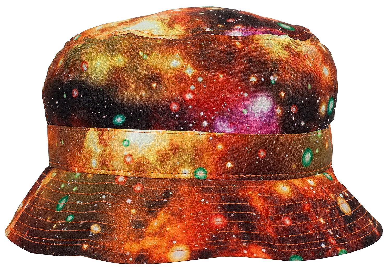 DRY77 Galaxy Orange-Colored Fresh Prince Style Bucket Hat 00f5054450f7