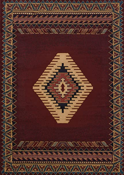 United Weavers Of America Tucson Manhattan Rug Collection 7 10 By 10 6 Burgundy 809014214997 Kitchen Dining