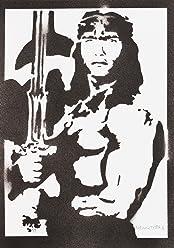 Póster Conan El Bárbaro Grafiti Hecho A Mano - Handmade Street Art - Artwork