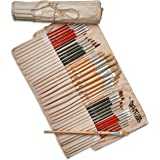 Art Owl Studio 36 Paint Brush Set - Natural & Synthetic Art Brushes for Acrylic Painting, Oil & Watercolor