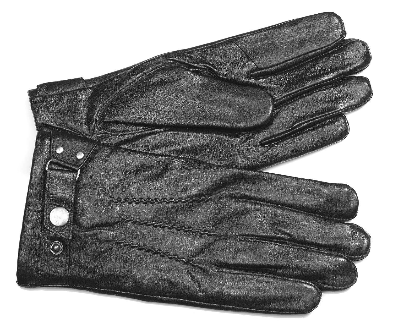 MoDA Men's Mr. Philadelphia Men's Leather Gloves with Touch Function C0172T-BK-L