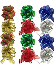 Allgala 12-pc Christmas Medium Pull Bows