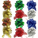 Allgala 12-pc Christmas Medium Pull Bows