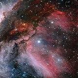 Gaming Space Battle PVC Mat 3'x3' Purple Nebula