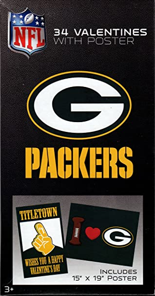 nfl green bay packers football valentine cards for kids with poster 59419