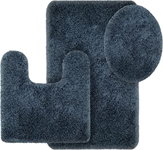 Better Homes and Gardens Thick and Plush 3-Piece Bath Rug Set, Insignia Blue