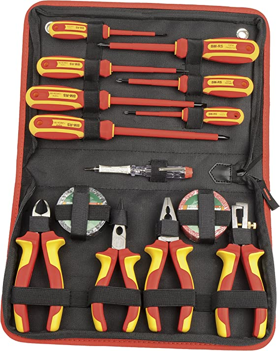 Mannesmann - M11214-14 piezas Juego de destornillador VDE + alicates: Amazon.es: Bricolaje y herramientas