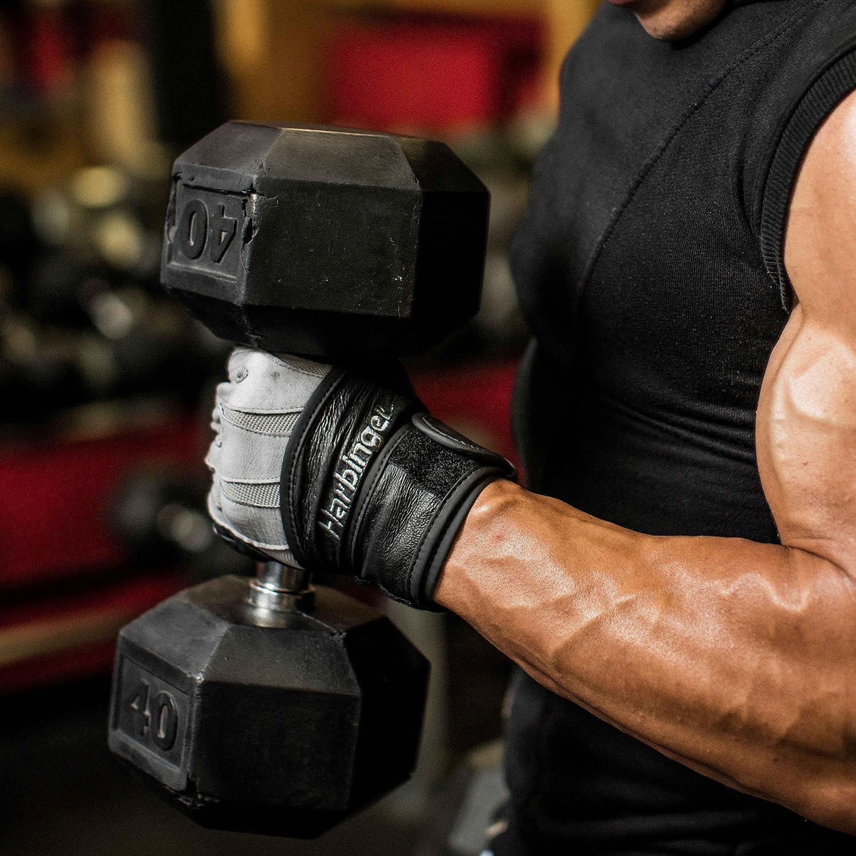 Harbinger Bioform Wrist Wrap Heat-Activated Cushioned Palm Guantes de Levantamiento de Pesas Hombre