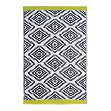 Fab Habitat Reversible Rugs | Indoor or Outdoor Use | Stain Resistant, Easy to Clean Weather Resistant Floor Mats | Valencia - Gray, 3' x 5'