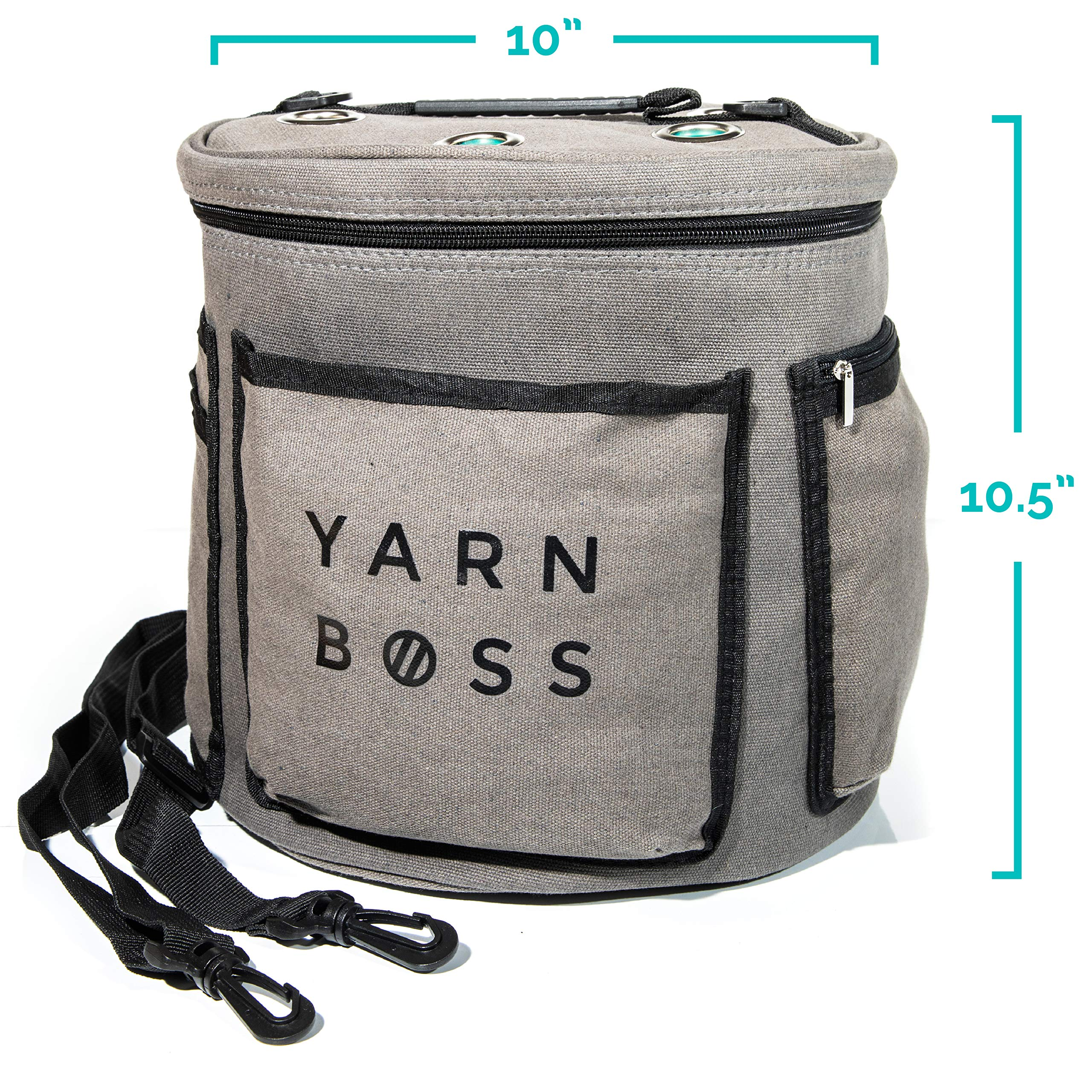 Yarn Boss Yarn Bag, Travel With Yarn and all Notions - Yarn Storage To Organize Multiple Projects and Keep Your Yarn Safe and Clean - Wide Grommets Stop Tangling for Best Crochet Bag or Knitting Bag by Yarn Boss (Image #8)