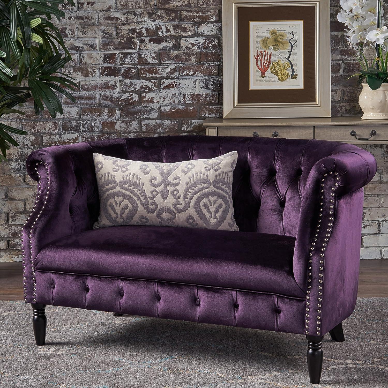 backdrop decor purple pin lilac loveseat waterfall bling wall plum