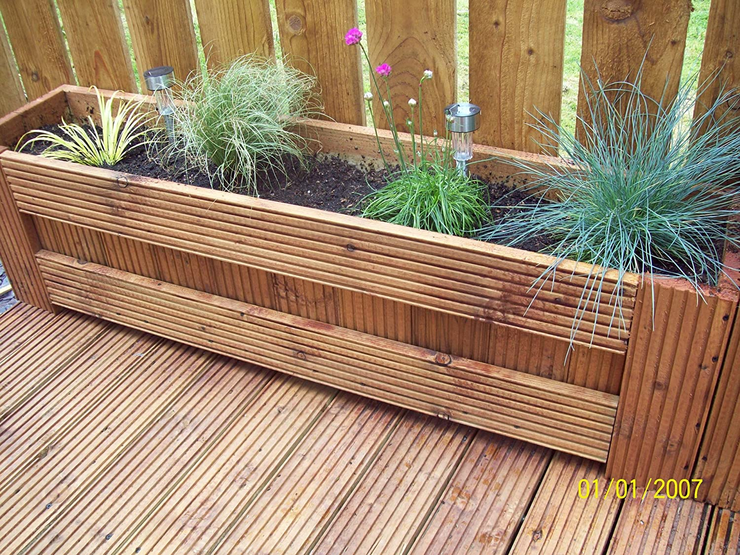 wooden decking trough planter boswel style ready assembled Amazon uk Garden & Outdoors
