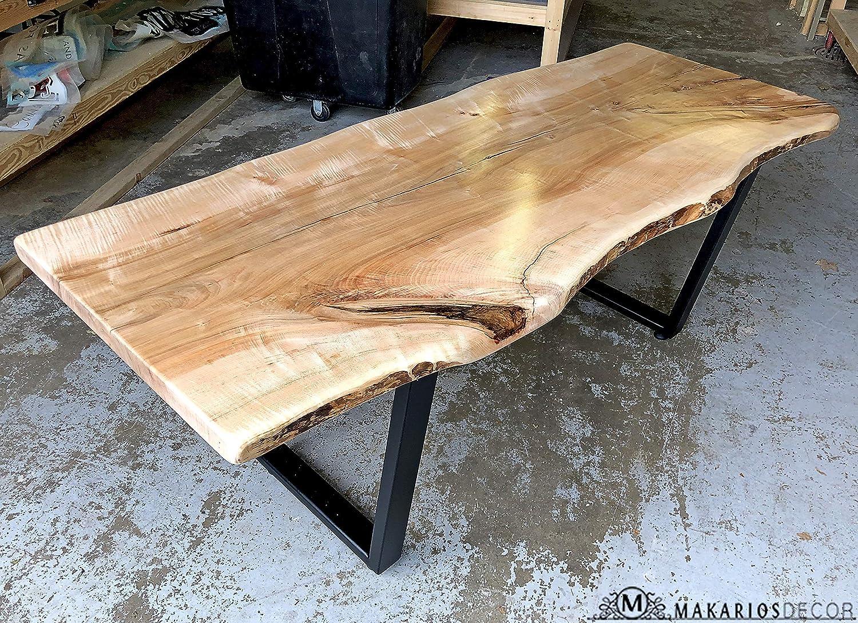 Amazon.com: Wood Bar Top, Epoxy Resin Table, Live Edge Hairpin Table, Epoxy Table, Live Edge Wood Furniture, Live Edge Wall Shelf, Live Edge Table Walnut, Epoxy Wood Table Top: Handmade