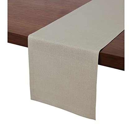 30f201f04bf52 Solino Home 100% Pure Linen Table Runner – 14 x 48 Inch, Tesoro Runner,  Natural and Handcrafted from European Flax – Natural