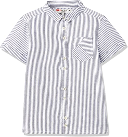 RED WAGON Ticking Stripe Shirt Camisa para Niños, Blanco (White), 4 años: Amazon.es: Ropa y accesorios