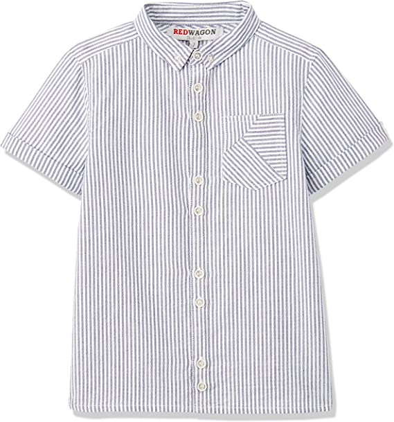 RED WAGON Ticking Stripe Shirt Camisa para Niños, Blanco (White), 4 años: Amazon.es: Ropa y accesorios