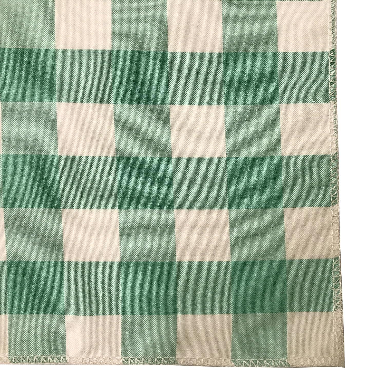 La Lino Pack de 10/Cuadros 45,72/x 45,72/cm servilletas de Cuadros White//Red 45.72 x 45.72 x 0.04 cm poli/éster