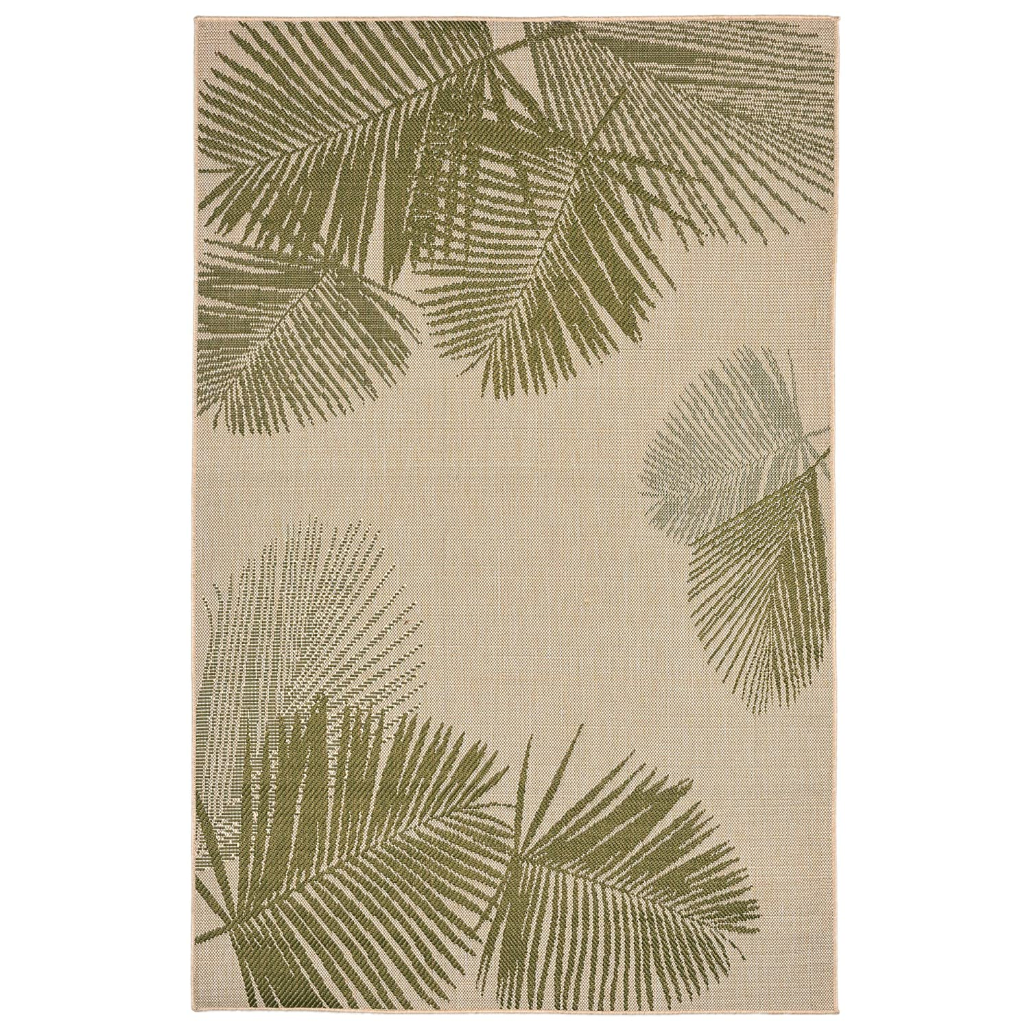 Liora Manne Veranda Soft Fronds Rug, 4'10 x 7'6, Green 4'10 x 7'6 The Trans Ocean Group TE358A74566