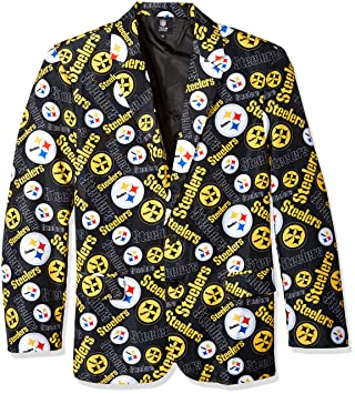 the best attitude 4ffbd ea470 Forever Collectibles NFL Mens Repeat Logo Ugly Business Jacket