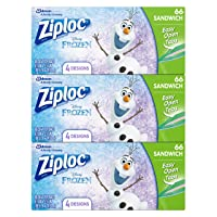 Deals on 3-Pack Ziploc Brand Sandwich Bags 66-Count