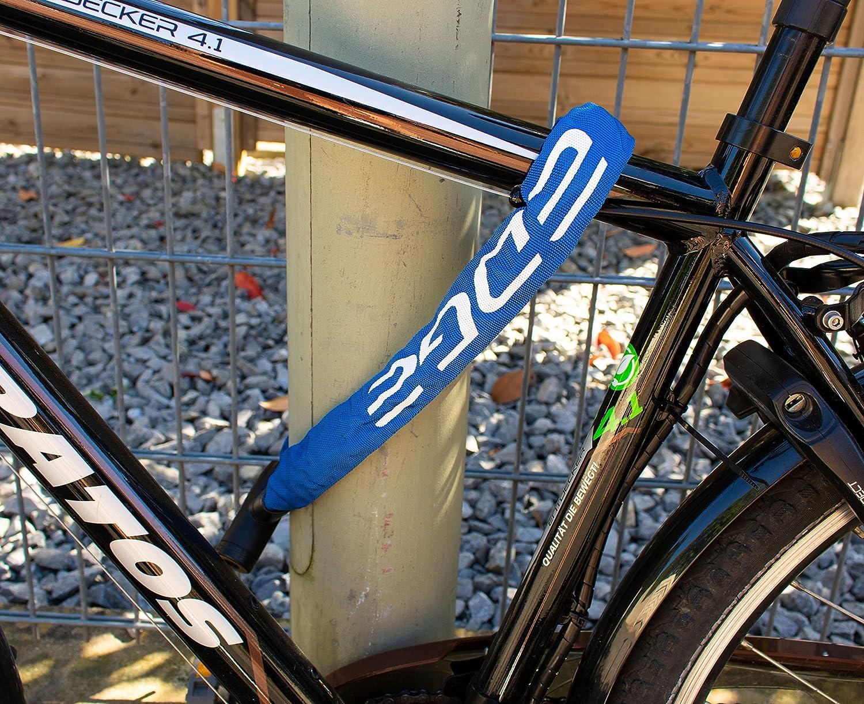 Edge Fahrradschloss 6mm Granito Kettenschloss mit Stahlketten f/ür Fahrrad und Motorrad