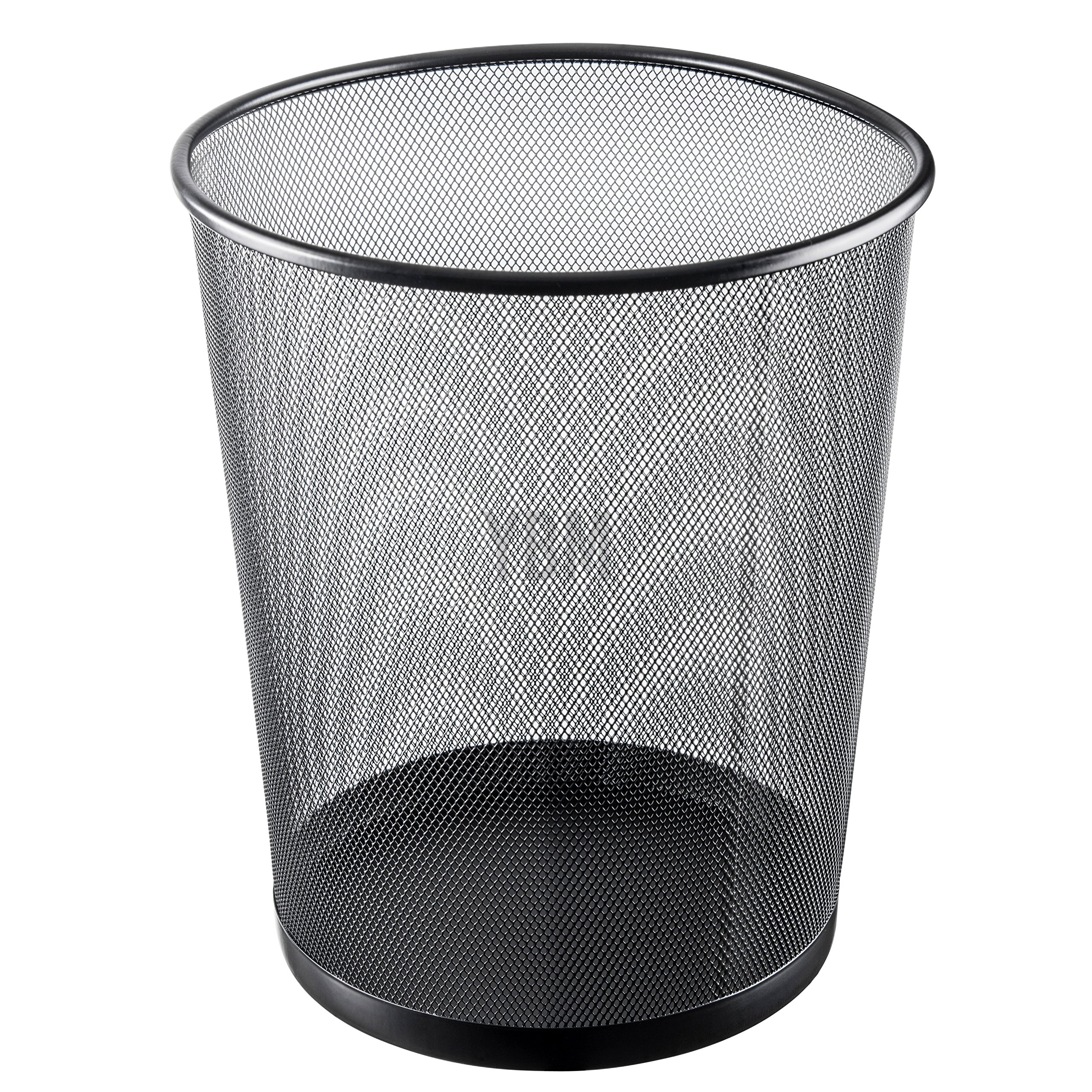 Ybmhome Steel Mesh Round Open Top Waste Basket Bin Trash Can for Office Home 2484 (1, Black)