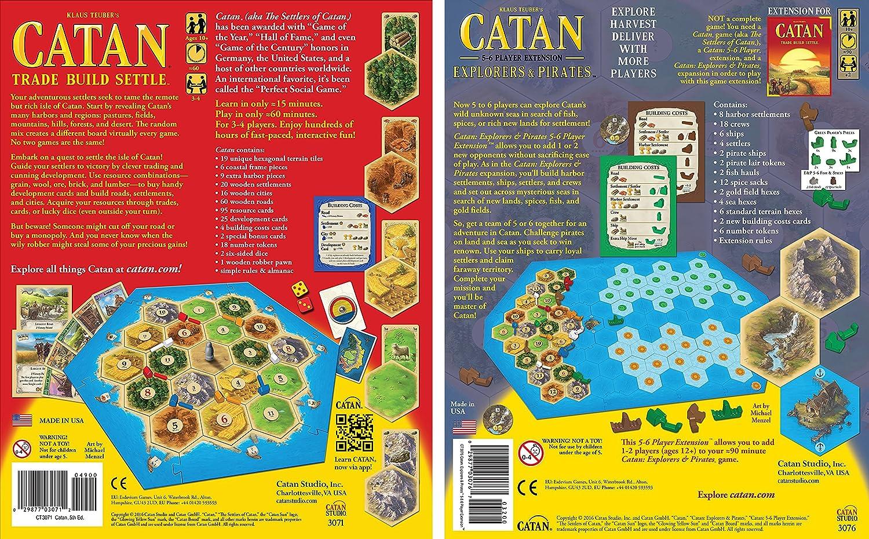 Catan 5ª edición con Catan: Explorers & Pirates 5-6 Player Extension 5th Edition: Amazon.es: Juguetes y juegos