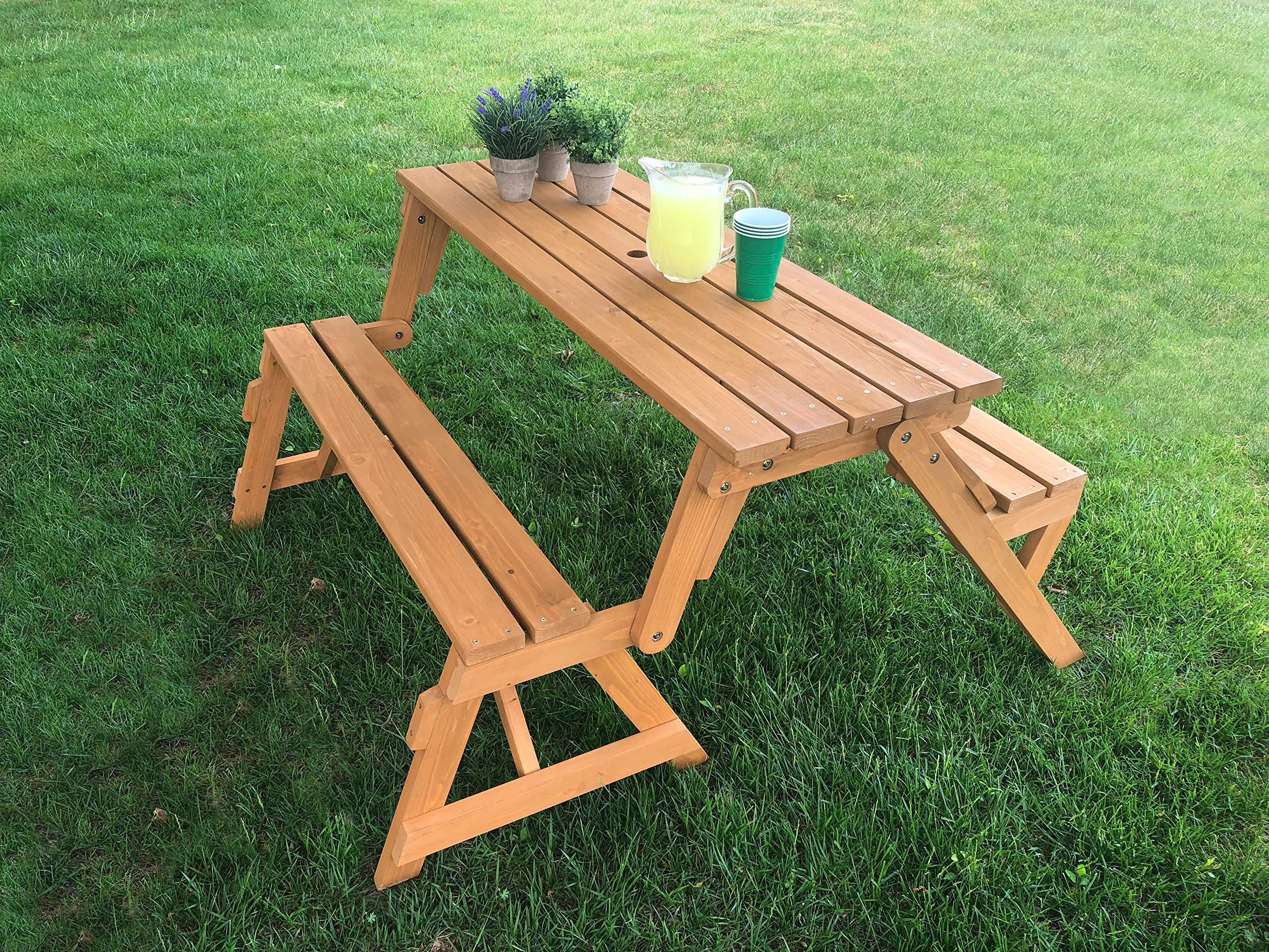 Tierra Garden 2-in-1 Convertible Junior Picnic Table/Bench by Tierra Garden (Image #3)