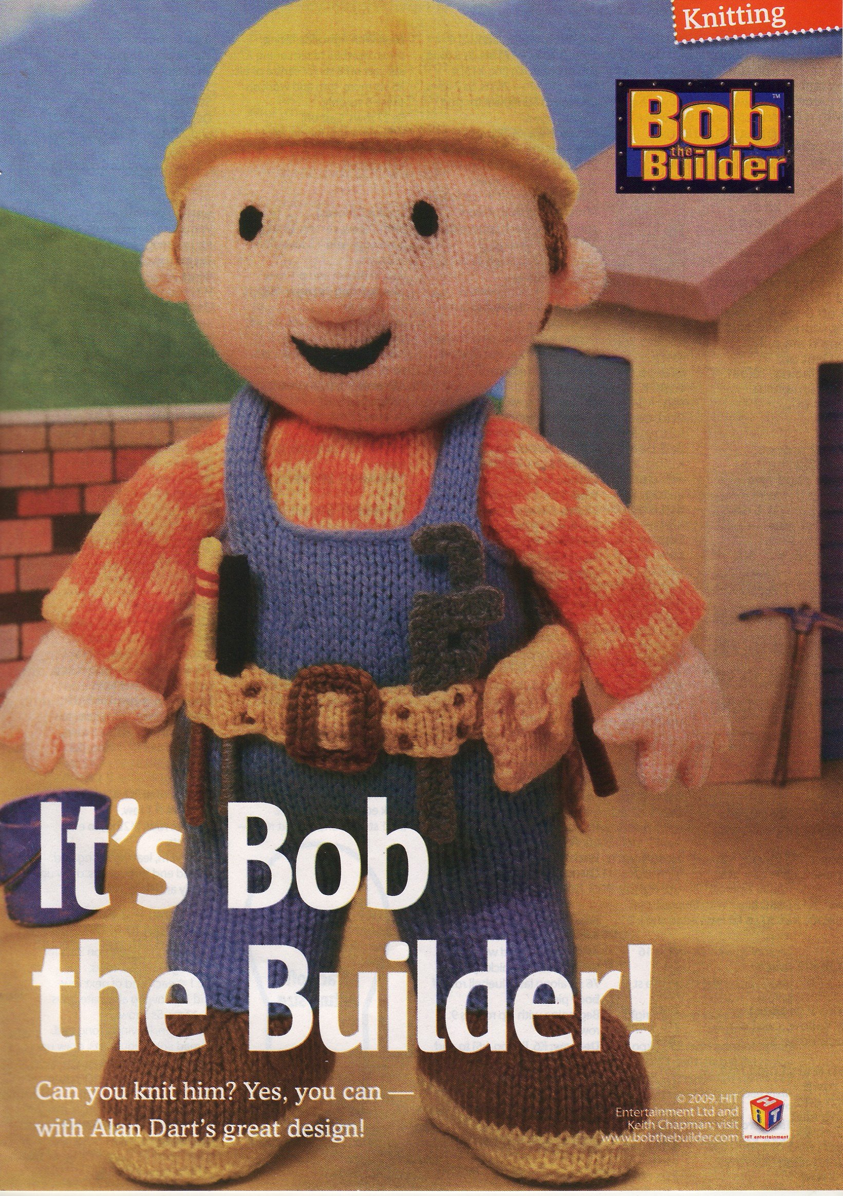 Alan Dart\'s design Bob the Builder Toy Knitting Pattern: Measurement ...