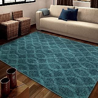 "product image for Orian Rugs Spoleto Geo Loop Geo Area Rug, 5'3"" x 7'6"", Aqua"