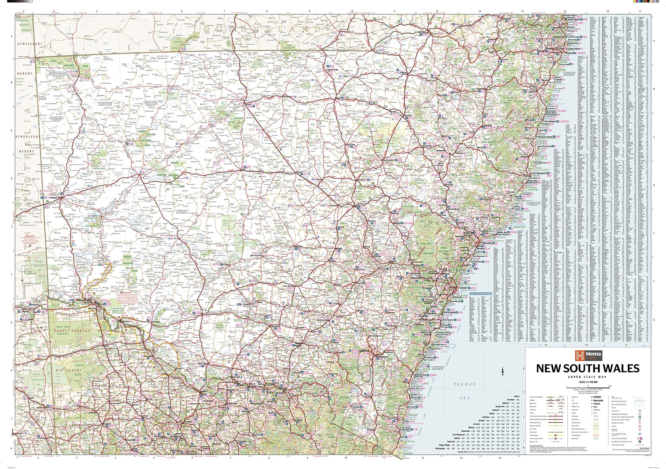 New South Wales Supermap - 56.25 x 39.75 inches - Paper - Flat Tubed PDF