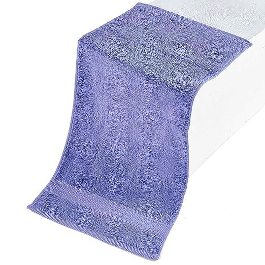 Color Sólido Juego de 3 Toallas de Baño 100% Algodón Absorbencia Rápida 1 Toalla de Baño 1 Toalla de Mano 1 Toalla de Cara Púrpura Claro: Amazon.es: Hogar