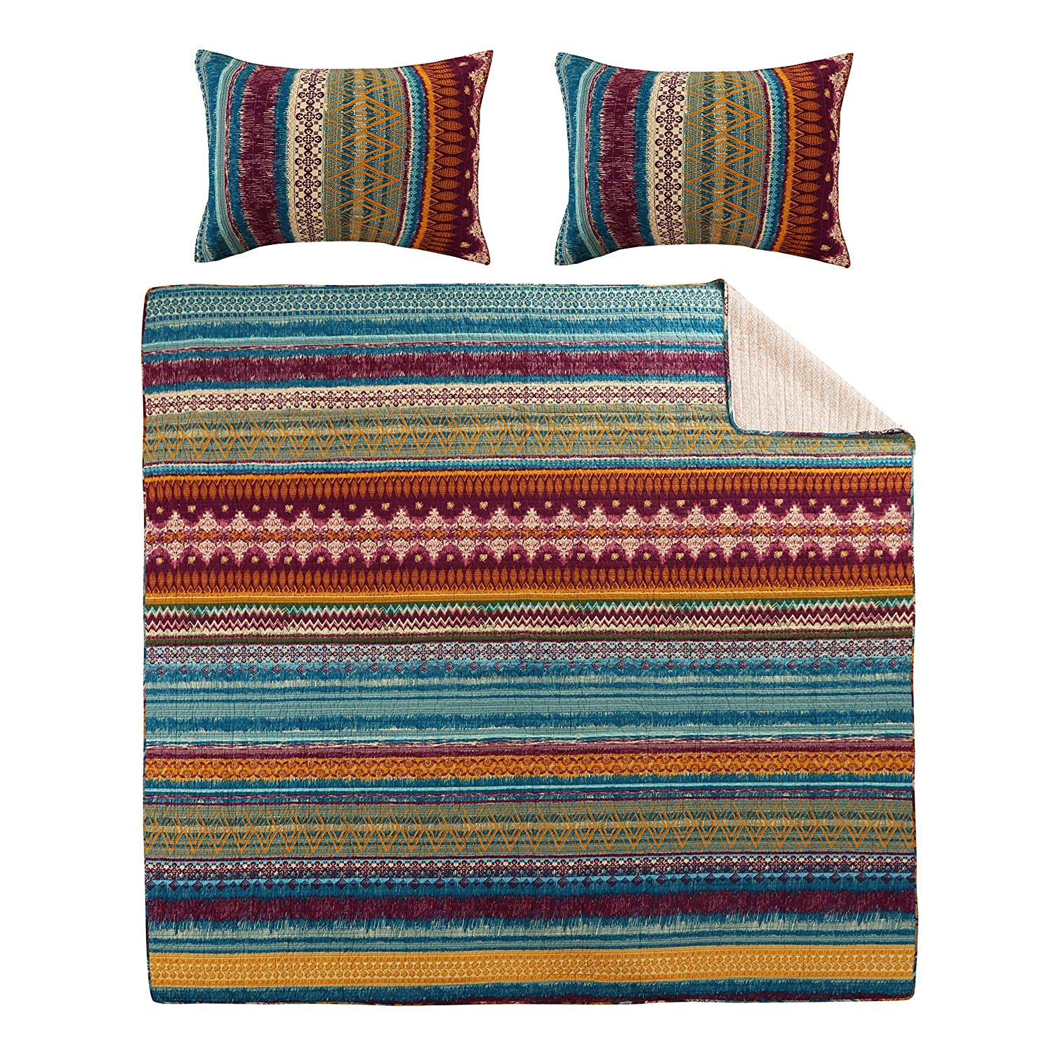 Greenland Home Southwest Quilt Set, 3-Piece Full/Queen Greenland Home Fashions GL-1412FMSQ