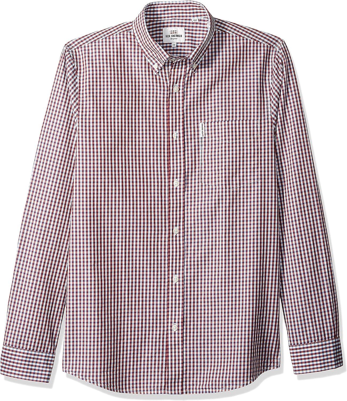 Ben Sherman Mens Ls Classic Gingham Shirt: Amazon.es: Ropa y accesorios