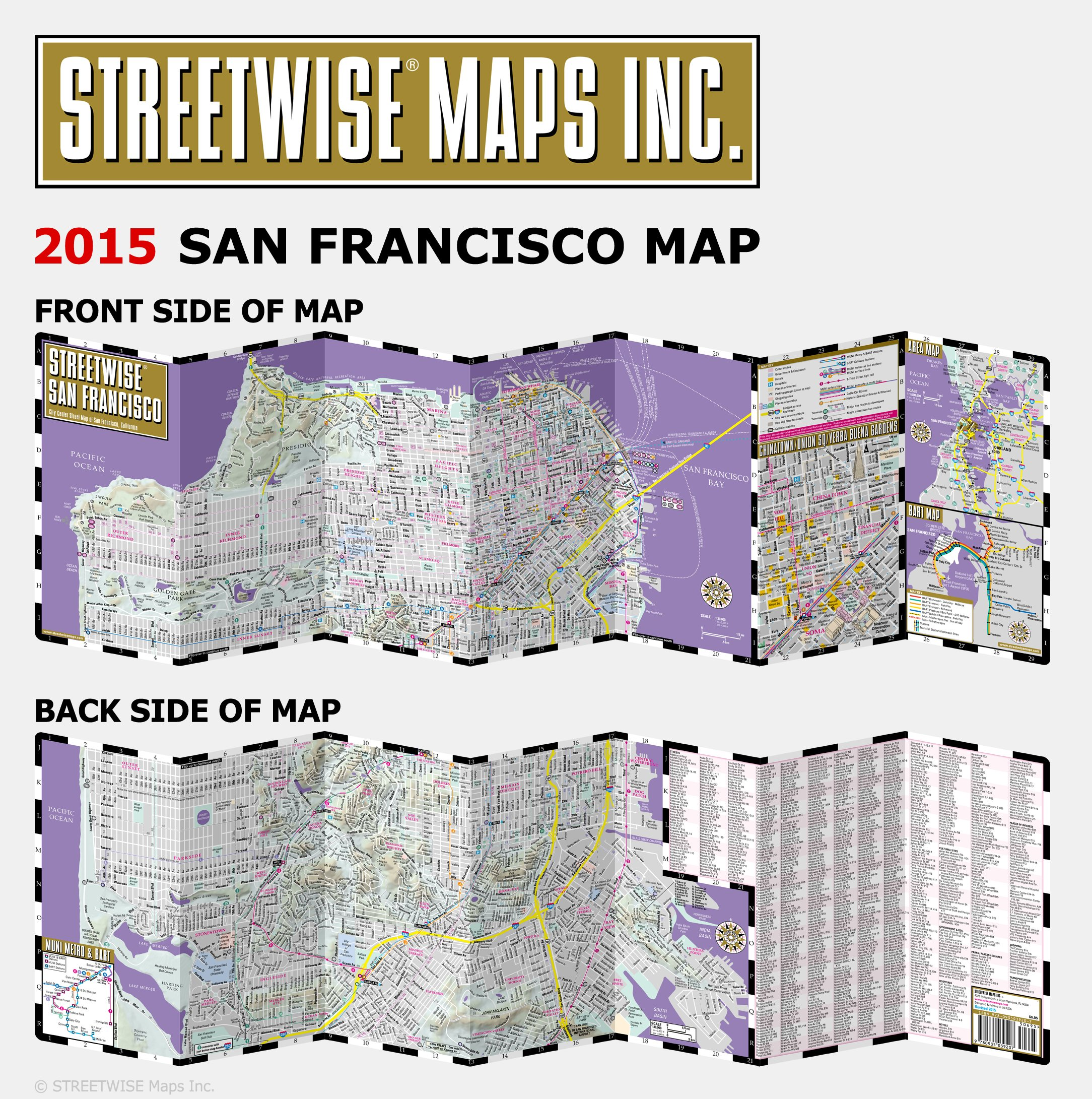Streetwise San Francisco Map Laminated City Center Street Map of