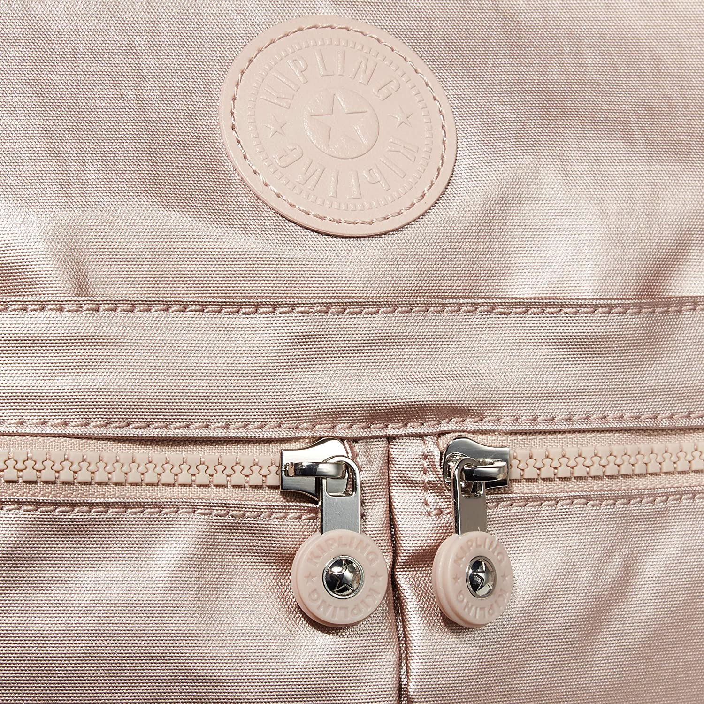 Kipling Women's New Angie Crossbody Bag Convertible Cross Body Metallic Rose